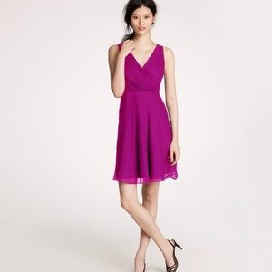 J. Crew Silk Chiffon Evie Formal Bridesmaid Dress